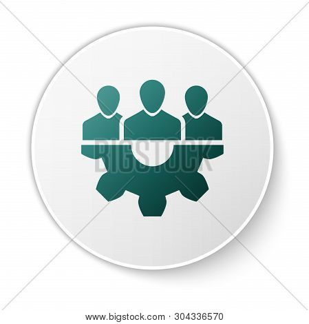 Green Project Team Base Icon Isolated On White Background. Business Analysis And Planning, Consultin