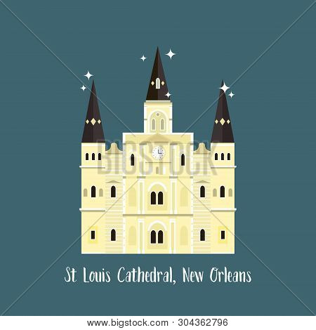 New Orleans St Louis Cathedral. Famous Landmark