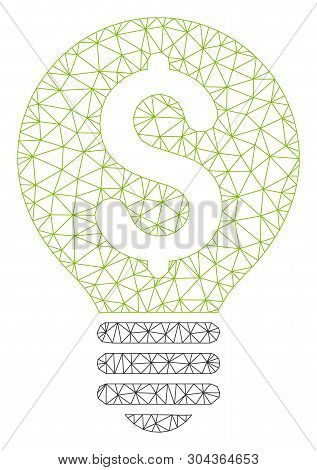 Mesh Business Idea Polygonal Icon Vector Illustration. Model Is Based On Business Idea Flat Icon. Tr
