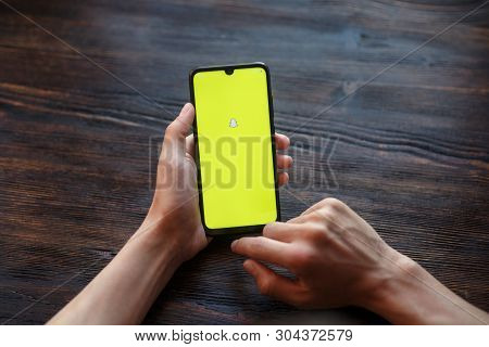 Richmond, Virginia, Usa -30 May 2019: An Apple Iphone Showing The Snapchat Application Alongside Oth