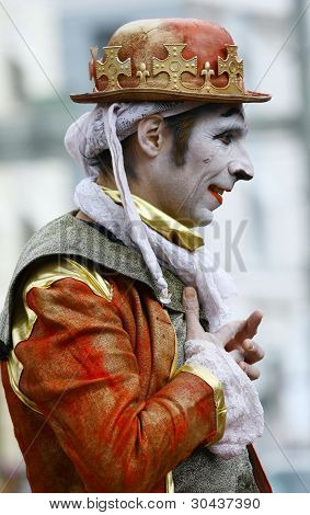 An Unidentified Street Performer Mime