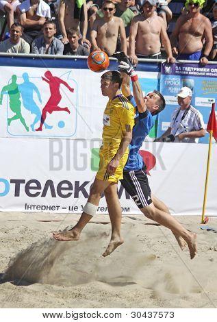 Beach Soccer Game Between Ukraine And Russia