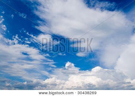 Sky before a rain.Wind.