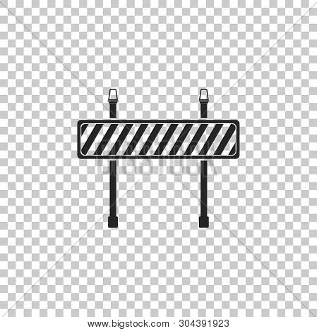 Road Barrier Icon Isolated On Transparent Background. Symbol Of Restricted Area Which Are In Under C