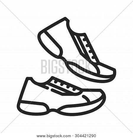 Running Shoes Icon Isolated On White Background. Running Shoes Icon In Trendy Design Style. Running