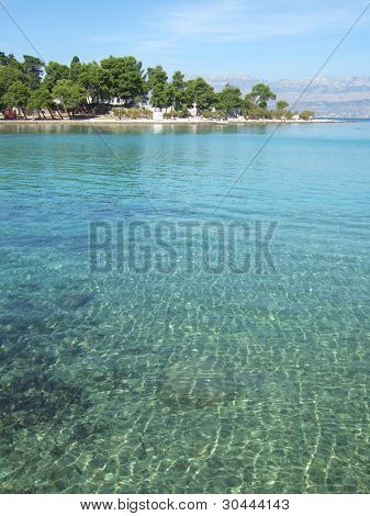 Croatia Brac island beach near Supetar September poster