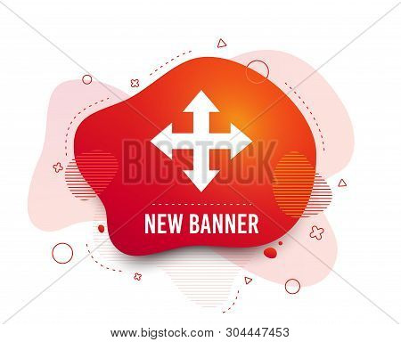 Fluid Badge. Fullscreen Sign Icon. Arrows Symbol. Icon For App. Abstract Shape. Gradient Fullscreen