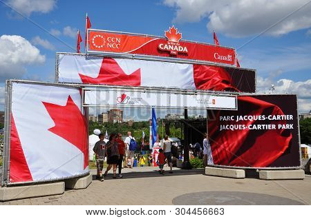 Ottawa, Canada - July 1, 2011: Entrance To Jacques-cartier Park On Canada Day In Ottawa, Canada.