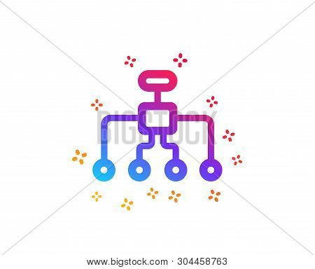 Restructuring Icon. Business Architecture Sign. Delegate Symbol. Dynamic Shapes. Gradient Design Res