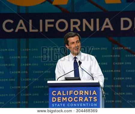 San Francisco, Ca - June 01, 2019: Presidential Candidate Pete Buttigieg, Mayor Of South Bend Indian