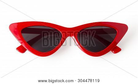 Cat Eye Sunglasses Isolated On White