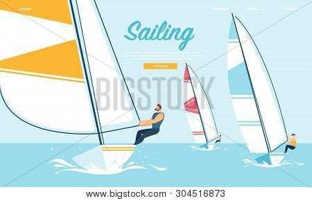Dynamic Team Struggle Regatta Sailing Ship, Summer Time Water Competition, Leisure, Sports Activity,