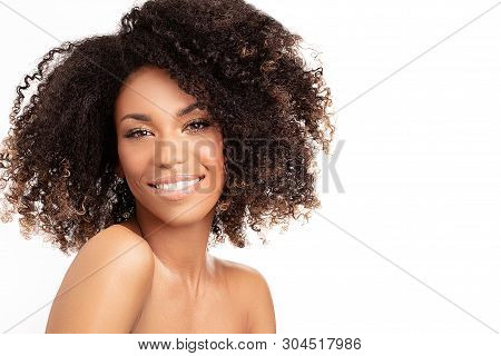 Beauty Portrait Of Afro Woman.