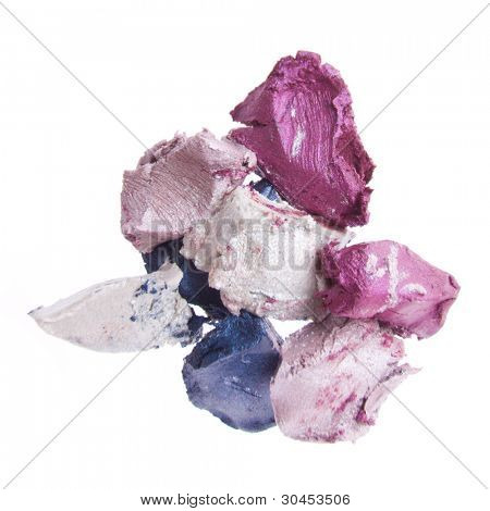 cream eyeshadow isolated on white background