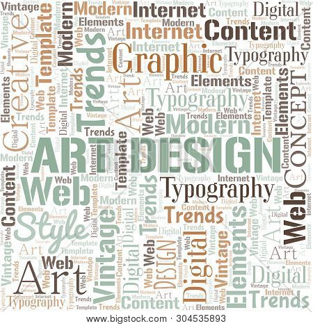 Art Design Word Cloud Vector Photo Free Trial Bigstock