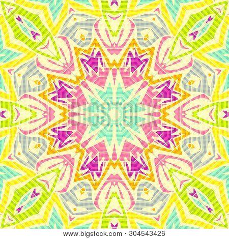 Seamless Moroccan Arabic Mosaic Pattern Background Modern Retro