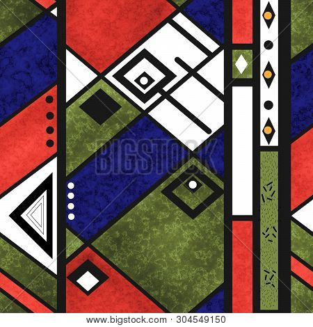 Seamless African Ethno Traditional Texture Pattern Background