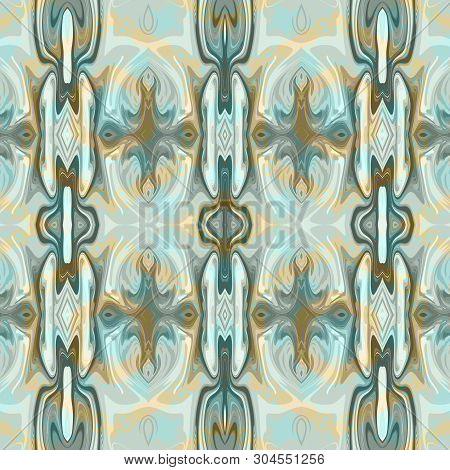 Seamless Ornamental Liqud Colorful Pattern Background Decoration