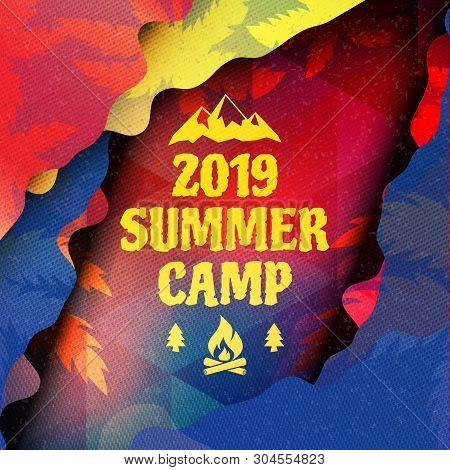 Background Summer Camp Poster Template