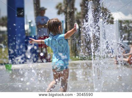 Child At Splash Park