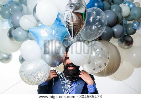 Celebration, Party, Birthday, Anniversary, Festive Occasions, Surprise Concept. Happy Birthday. Ball