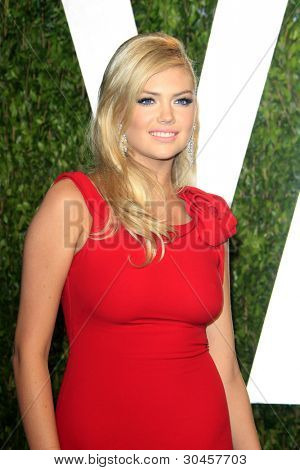 WEST HOLLYWOOD, CA - FEB 26: Kate Upton at the Vanity Fair Oscar Party at Sunset Tower on February 26, 2012 in West Hollywood, California.