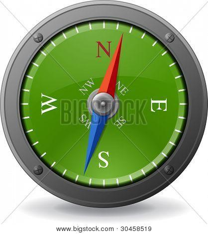 Vector compass illustration.