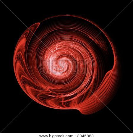 poster of abstract chaos swirl rays on dark background