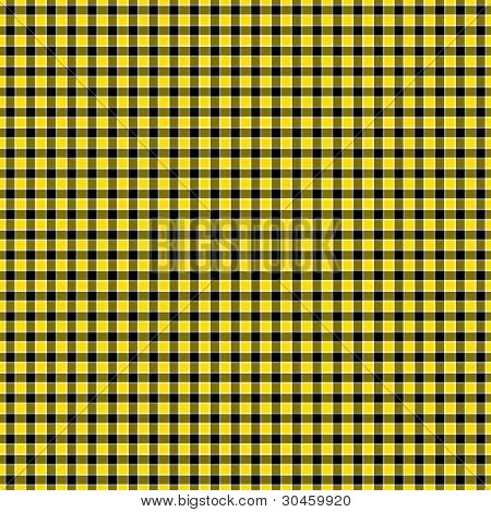 Black, Yellow & White Checked Plaid