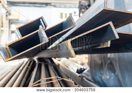 Metal In Stock, Corner, Channel, Beam. Metal Structures For The Assembly Of Metal Products.