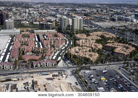An Aerial View Of The Condos In Las Vegas Nevada
