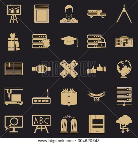 Educational Matters Icons Set. Simple Set Of 25 Educational Matters Vector Icons For Web For Any Des