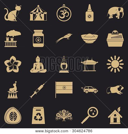 Habitat Icons Set. Simple Set Of 25 Habitat Vector Icons For Web For Any Design