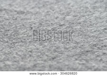Warm And Cozy Gray Wool Blanket Texture, Wool Fabric In Grey Close-up Textured.