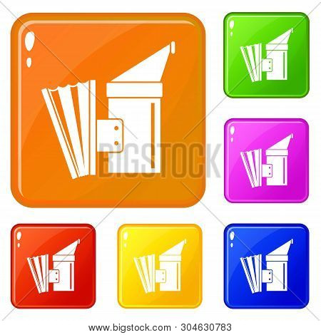 Fumigation Icons Set Collection Vector 6 Color Isolated On White Background