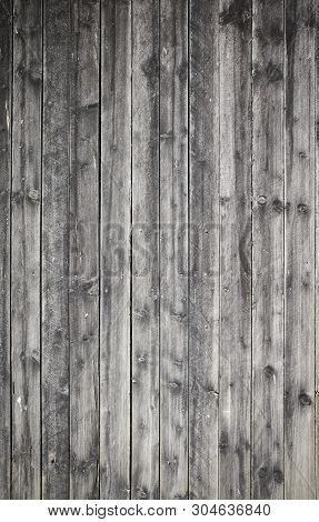 An Old Weathered Wooden Board Wall, Background Or Texture.