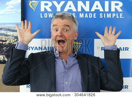 Boryspil, Ukraine - March 23, 2018: Ryanair Chief Executive Officer Michael Oleary Poses For A Photo