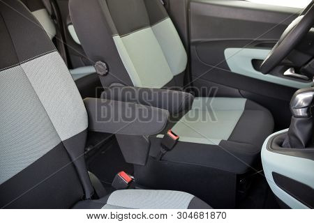 Armrests In The Luxury Passenger Car, Front Seats