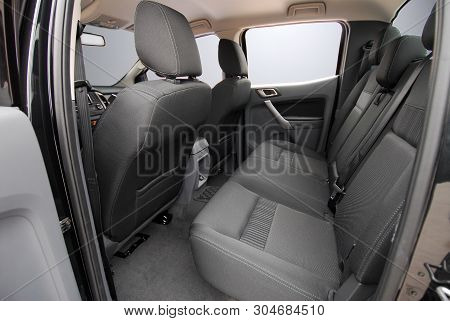 Rear Seats Covered With Fabric In A Off Road Car