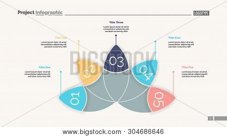Petal Diagram With Five Elements. Chart, Slide, Template. Creative Concept For Infographics, Present