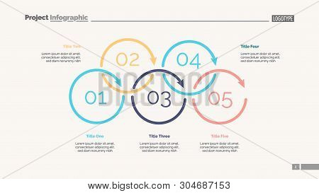 Process Diagram With Five Elements. Cycle Chart, Step Graph, Layout. Creative Concept For Infographi
