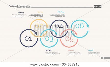 Process Diagram With Six Elements. Cycle Chart, Step Graph, Layout. Creative Concept For Infographic