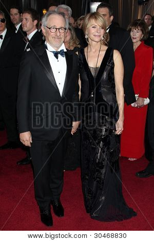 LOS ANGELES - FEB 26:  Steven Spielberg; Kate Capshaw arrives at the 84th Academy Awards at the Hollywood & Highland Center on February 26, 2012 in Los Angeles, CA.
