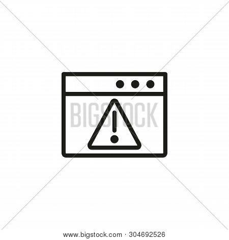 Warning Page Line Icon. Folder, Exclamation Mark, Error. Software Concept. Can Be Used For Topics Li