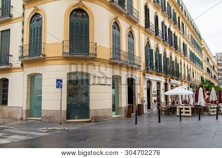 Malaga, Spain - May 24, 2019: Exterior View Of Pablo Picassos Birthplace In The City Centre.