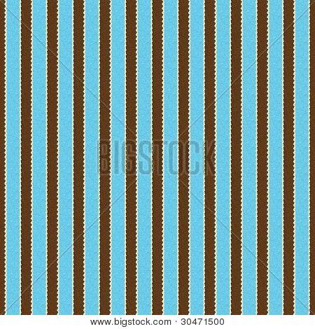 Seamless Aqua, Brown & White Stripe