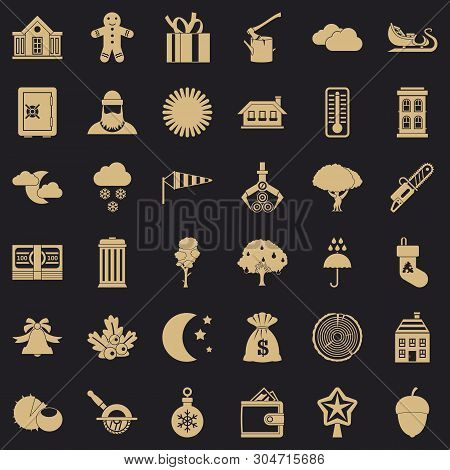 Rural Lifestyle Icons Set. Simple Set Of 36 Rural Lifestyle Vector Icons For Web For Any Design