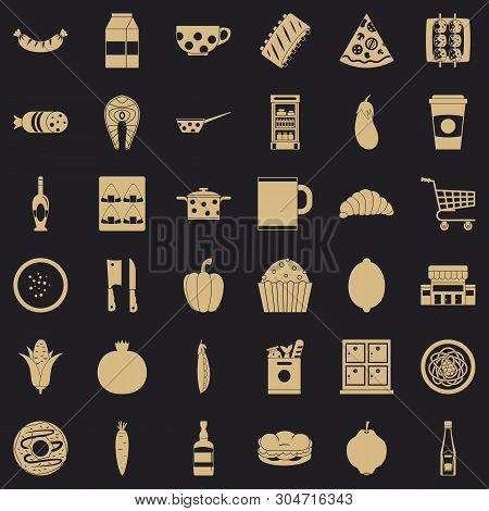 Luncheon Icons Set. Simple Set Of 36 Luncheon Vector Icons For Web For Any Design