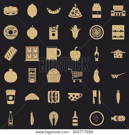 Gala Dinner Icons Set. Simple Set Of 36 Gala Dinner Vector Icons For Web For Any Design