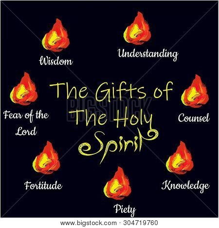 Pentecost Sunday, Typography For Print Or Use As Poster, Flyer, Card Or Banner
